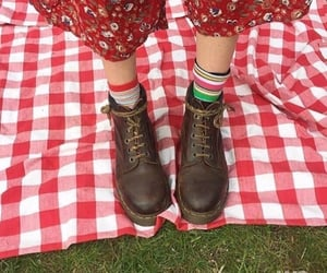 red, picnic, and shoes image