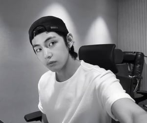 black&white, jin, and bts image