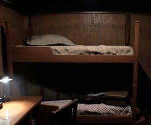 bed, dark, and sleep image