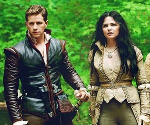 prince charming, snow white, and once upon a time image