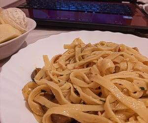 dinner, pasta, and movie night image