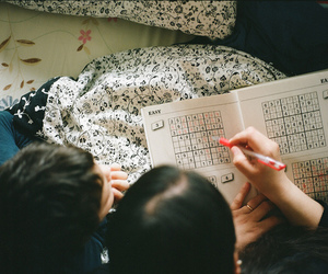 photography, sudoku, and vintage image