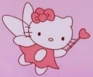 cat, trendy, and fairy image
