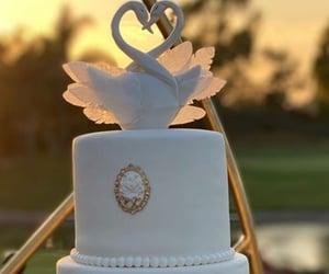 cake, wedding cake, and white cake image