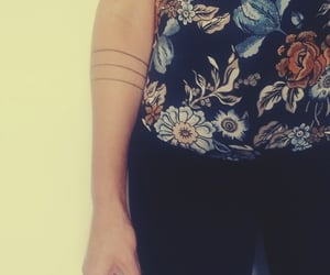 tattoo, inked girl, and arm tattoo image