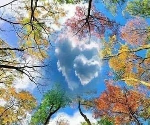 clouds, hearts, and nature image