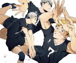 anime, haikyuu, and handsome image