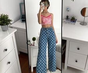 checkered, fashion, and print image