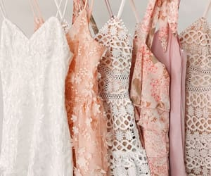 dress, aesthetic, and pink image