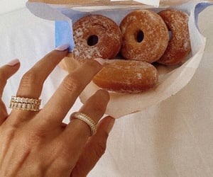 donuts, food, and rings image