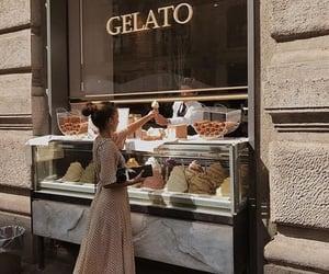 girl, food, and ice cream image