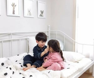 babies, bedroom, and brother image