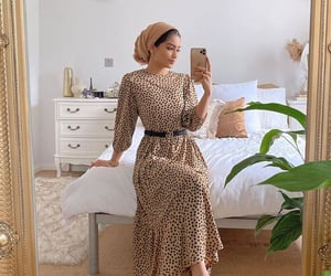 brown, dress, and fashion image