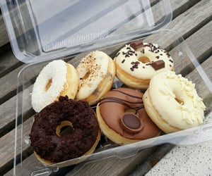 donuts, chocolate, and dessert image