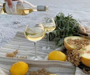 wine, drink, and lemon image