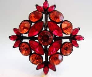 collectible, maltese cross, and red rhinestones image