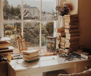 aesthetic, autumn, and bibliophile image