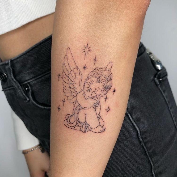 tattoo, angel, and ideas image