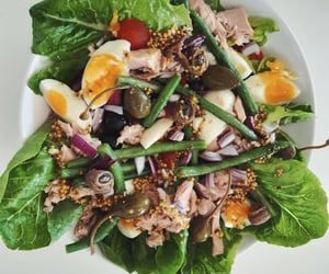 fit, salad, and tuna image