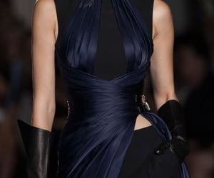 black, blue, and haute couture image