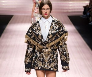 dolce gabbana, model, and haute couture image