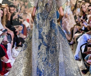 elie saab, haute couture, and blue image