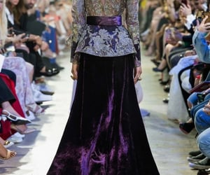 elie saab, haute couture, and purple image