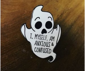 anxiety, anxious, and confused image