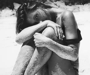 aesthetic, beach, and black and white image