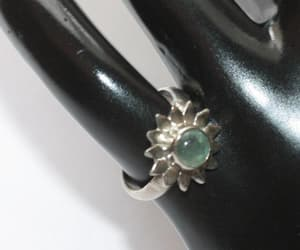 etsy, tourmaline ring, and green stone image