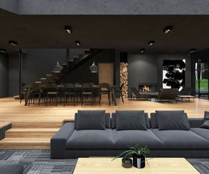 dream house, fireplace, and black soul image