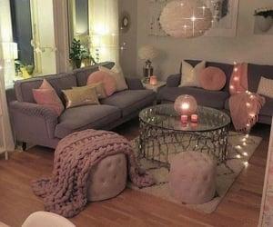 livingroom, pink, and justgirly image