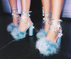blue, glam, and high heels image
