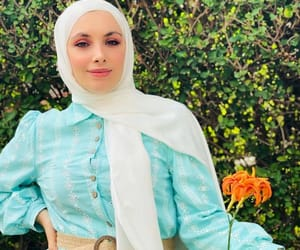 button, hijab, and islam image