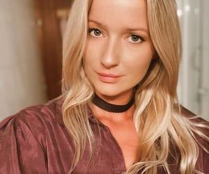 blonde, choker, and tan image