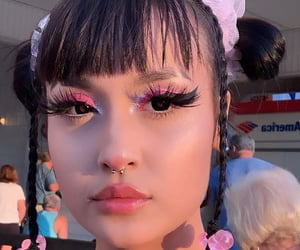 bangs, aesthetic, and buns image