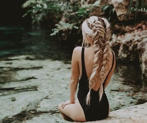 girl, hair, and cabelo image