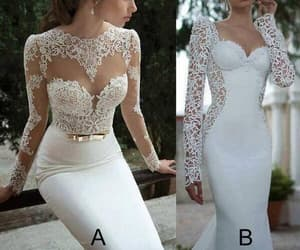 wedding gown, mermaid wedding dresses, and lace wedding dress image