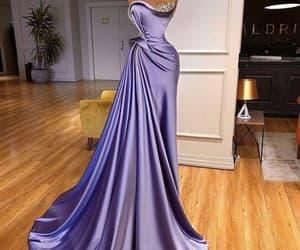 purple evening dress, luxury evening dresses, and beaded evening dress image