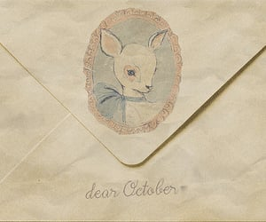 october, Letter, and dear image