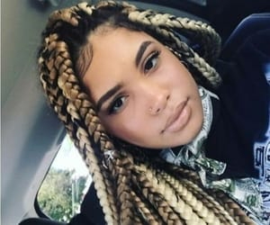 braided hair, brown hair, and twists image