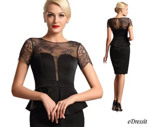 short sleeves, lace mother dress, and wear to work image