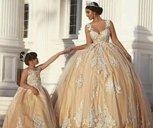 ball gown prom dresses, cheap flower girl dress, and kids prom dress image