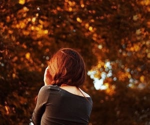 autumn, beauty, and hair image