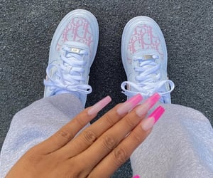 nails, nike shoes, and nike image