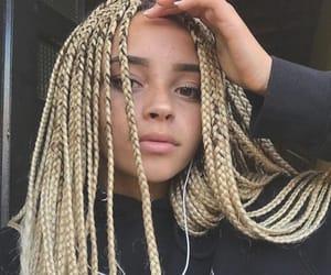 blonde hair, braids, and locks image