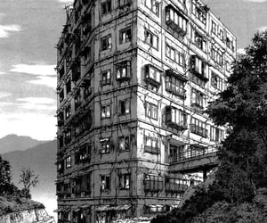 buildings, abandoned, and anime image