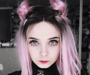 aesthetic, pink hair, and cute girl image