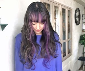 colored hair, purple hair, and colorful hair image
