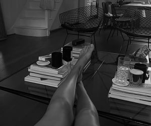 black and white, legs, and foot image